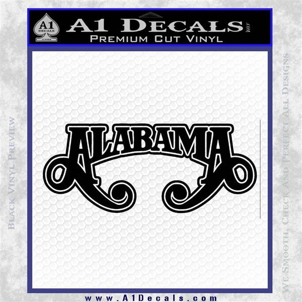 Alabama Band Decal Sticker DO Decal Sticker » A1 Decals