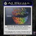 Alice In Wonderland Were All Mad Here Decal Sticker Sparkle Glitter Vinyl Sparkle Glitter 120x120
