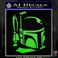 Alien DBF Decal Sticker D2 Lime Green Vinyl 120x120