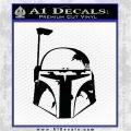 Alien DBF Decal Sticker Rusty Helmet Decal Sticker Black Vinyl Logo Emblem 120x120