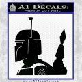 Alien DBF Mandalorian Badass Decal Sticker Black Vinyl Logo Emblem 120x120