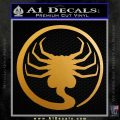 Alien Movie Decal Sticker Face Sucker Metallic Gold Vinyl 120x120