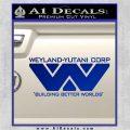 Alien Movie Decal Sticker Weylan Yutani Corp Blue Vinyl 120x120