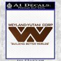 Alien Movie Decal Sticker Weylan Yutani Corp Brown Vinyl 120x120