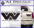 Alien Movie Decal Sticker Weylan Yutani Corp Carbon Fiber Black 120x97