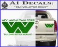 Alien Movie Decal Sticker Weylan Yutani Corp Green Vinyl 120x97