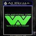 Alien Movie Decal Sticker Weylan Yutani Corp Lime Green Vinyl 120x120