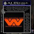Alien Movie Decal Sticker Weylan Yutani Corp Orange Vinyl Emblem 120x120