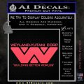 Alien Movie Decal Sticker Weylan Yutani Corp Pink Vinyl Emblem 120x120