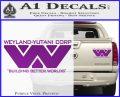Alien Movie Decal Sticker Weylan Yutani Corp Purple Vinyl 120x97