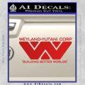 Alien Movie Decal Sticker Weylan Yutani Corp Red Vinyl 120x120