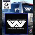 Alien Movie Decal Sticker Weylan Yutani Corp White Vinyl Emblem 120x120