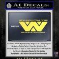 Alien Movie Decal Sticker Weylan Yutani Corp Yellow Vinyl 120x120