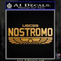 Alien Movie USCSS Nostromo Decal Sticker Metallic Gold Vinyl 120x120