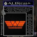 Alien Movie Weylan Corp Decal Sticker D1 Orange Vinyl Emblem 120x120
