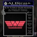 Alien Movie Weylan Corp Decal Sticker D1 Pink Vinyl Emblem 120x120