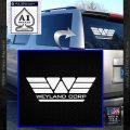 Alien Movie Weylan Corp Decal Sticker D1 White Vinyl Emblem 120x120