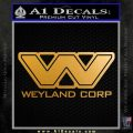 Alien Movie Weylan Corp Decal Sticker D2 Metallic Gold Vinyl 120x120
