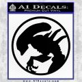 Alien Movie Xenomorph Decal Sticker CR2 Black Vinyl Logo Emblem 120x120
