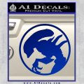 Alien Movie Xenomorph Decal Sticker CR2 Blue Vinyl 120x120