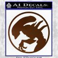 Alien Movie Xenomorph Decal Sticker CR2 Brown Vinyl 120x120