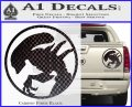 Alien Movie Xenomorph Decal Sticker CR2 Carbon Fiber Black 120x97