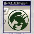 Alien Movie Xenomorph Decal Sticker CR2 Dark Green Vinyl 120x120