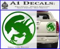 Alien Movie Xenomorph Decal Sticker CR2 Green Vinyl 120x97