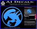 Alien Movie Xenomorph Decal Sticker CR2 Light Blue Vinyl 120x97