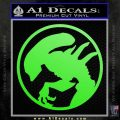 Alien Movie Xenomorph Decal Sticker CR2 Lime Green Vinyl 120x120