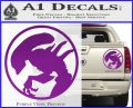 Alien Movie Xenomorph Decal Sticker CR2 Purple Vinyl 120x97