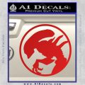 Alien Movie Xenomorph Decal Sticker CR2 Red Vinyl 120x120