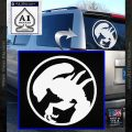 Alien Movie Xenomorph Decal Sticker CR2 White Vinyl Emblem 120x120