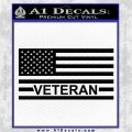 American Flag Veteran Decal Sticker Black Vinyl Logo Emblem 120x120
