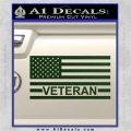 American Flag Veteran Decal Sticker Dark Green Vinyl 120x120