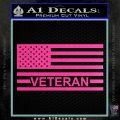 American Flag Veteran Decal Sticker Hot Pink Vinyl 120x120