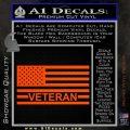 American Flag Veteran Decal Sticker Orange Vinyl Emblem 120x120