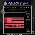 American Flag Veteran Decal Sticker Pink Vinyl Emblem 120x120