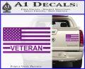 American Flag Veteran Decal Sticker Purple Vinyl 120x97