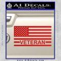American Flag Veteran Decal Sticker Red Vinyl 120x120