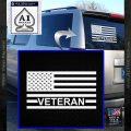 American Flag Veteran Decal Sticker White Vinyl Emblem 120x120