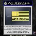 American Flag Veteran Decal Sticker Yellow Vinyl 120x120
