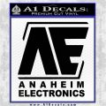 Anaheim Electronics Gundam Decal Sticker D2 Black Vinyl Logo Emblem 120x120