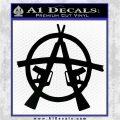 Anarchy AK 47s Decal Sticker Black Vinyl Logo Emblem 120x120