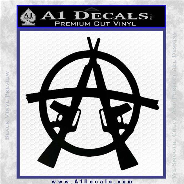 Anarchy AK 47s Decal Sticker Black Vinyl Logo Emblem