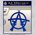 Anarchy AK 47s Decal Sticker Blue Vinyl 120x120