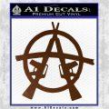 Anarchy AK 47s Decal Sticker Brown Vinyl 120x120