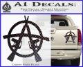 Anarchy AK 47s Decal Sticker Carbon Fiber Black 120x97