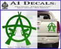 Anarchy AK 47s Decal Sticker Green Vinyl 120x97