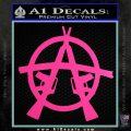 Anarchy AK 47s Decal Sticker Hot Pink Vinyl 120x120